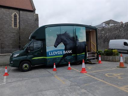 Lloyds Bank mobile banking van